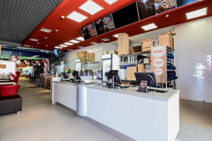 Domino`s Pizza в ТРЦ Квадрат - интерьер