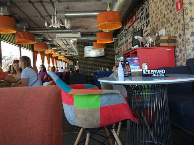 Ресторан Mister Cat на Шулявской - интерьер пиццерии