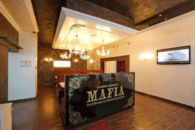 Интерьер ресторана MAFIA на ул. Срибнокильской