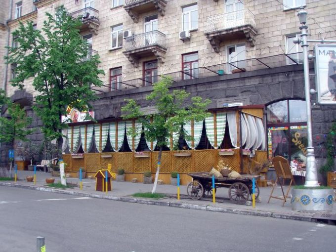 Корчма Тарас Бульба - уличная терраса